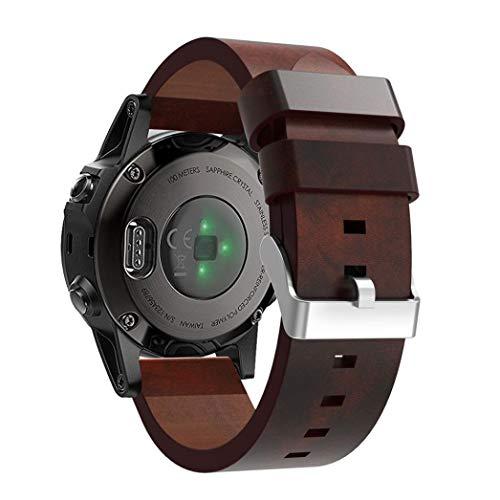 Bandas para Garmin Fenix 5S Plus-Becoler Correa de Reloj de Cuero Repuesto Pulseras de Accesorios Pulsera para Garmin Fenix...