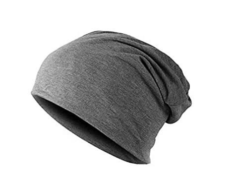 0188fa8c Dark Grey Polyester Beanie & Bobble Hat For Unisex: Amazon.ae ...