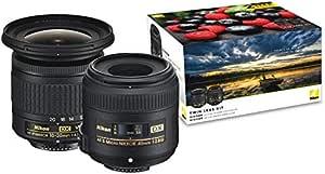 Nikon 832638 Landscape & Macro Lens Kit, Black