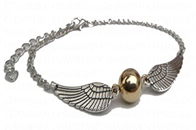76f400f257f8 Inception Pro Infinite Pulsera de Harry en Metal Snitch Golden Snitch  Seeker Wings Silver Color  Amazon.es  Joyería