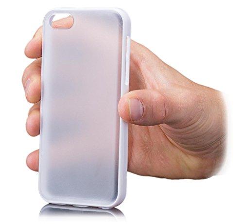 Apple iPhone 5C | iCues TPU Pare-chocs avec Clear Retour Case bleu | [Protecteur d'écran, y compris] protecteur de feuille transparente Temps clair de gel de silicone Housse étui de protection couvert