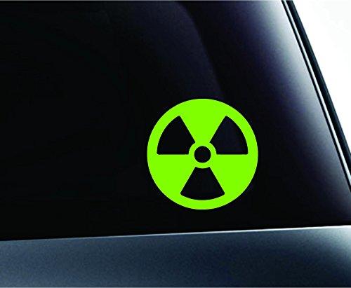 Radioactive Symbol Biohazard Chemical Danger Computer Laptop Symbol Decal Family Love Car Truck Sticker Window (Lime Green)