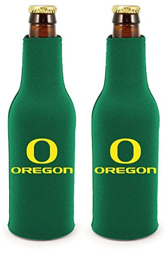 NCAA College 2014 Team Logo Color Bottle Suit Holder Holder Koozie Cooler 2-Pack (Oregon Ducks) (Oregon Ducks Tailgate Cooler)