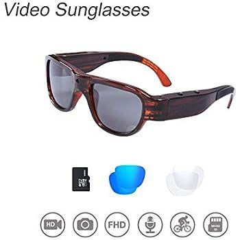 Amazon.com: OHO Sunshine Gafas de sol de vídeo impermeables ...