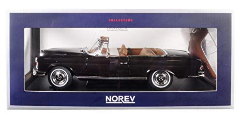 - Norev 1969 Mercedes Benz 280 SE Cabriolet Dark Brown 1/18 Diecast Model Car 183568
