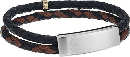 - Fossil Vintage Casual Multi-Strand Leather Bangle Bracelet, Black