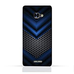 AMC Design POP 4STPU Silicone Protective case with Abstract Blue Mesh Pattern