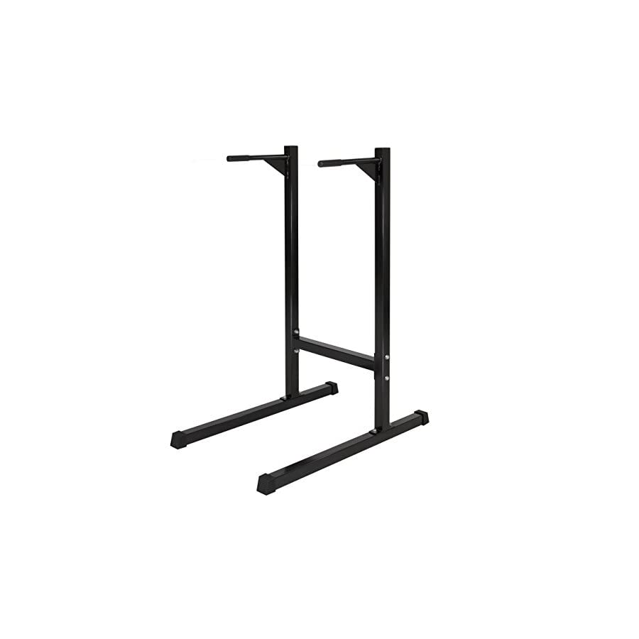 Best Choice Products Freestanding Deluxe Dip Station Stand for Chest, Shoulders, Deltoids, Triceps, Home Gym Workouts & Exercise w/ 500lb Weight Capacity Black