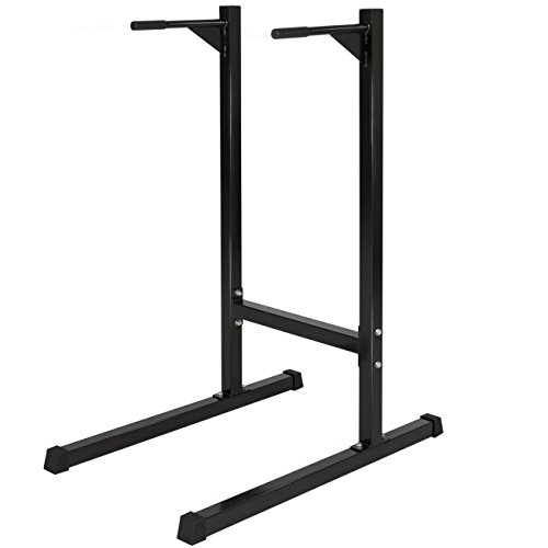 Best Choice Products Dipping station Dip Stand Pull Push Up Bar Fitness Exercise Workout Gym 500lbs by Best Choice Products