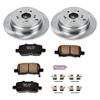 2pcs Slotted Drilled Brake Discs Rotors and 4pcs Ceramic Disc Brake Pads Brakes Kit fit 2001-2002 Acura MDX,1999-2004 Honda Odyssey,Front SCITOO Brake Kits