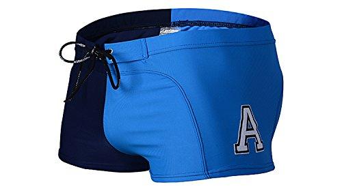 ZQ@QXAB creative American Mens Beach Spa men's maillot de bain Maillot de bain Maillot 1 pièce Maillot mode Métrosexuel,taille L,blue