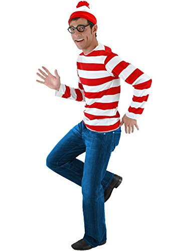 JerriyCostumes Adult Where's Waldo Wenda Kit