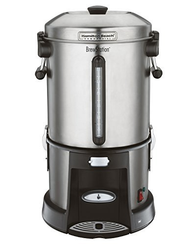 Hamilton Beach Commercial HCU065S  Brewstation Coffee Urn 65 Cup, Removable Tank, Speed Brewing, One Hand Dispensing, Stainless Steel by Hamilton Beach