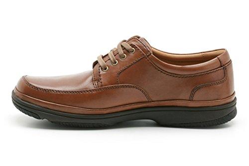 Clarks Hombres Milla Swift Caoba Zapatos De Cuero Mahogany Leather