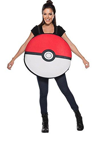 Rubie's Adult Pokemon Poke Ball Costume, (Pokemon Costumes For Teens)