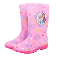 horizon where hope spread Girl Kids Pink Waterproof PVC Rain Boots (Toddler/Little Kid) (1M US Little Kid, Pink)