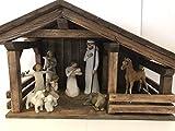 Single stall stable, Wood nativity manger, creche, Nativity displays
