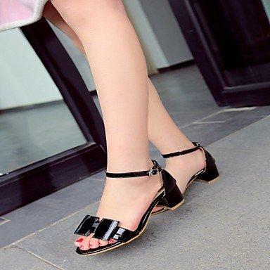 LvYuan Mujer Sandalias Semicuero PU Verano Otoño Paseo Pajarita Tacón Robusto Blanco Negro Beige Rosa 2'5 - 4'5 cms blushing pink