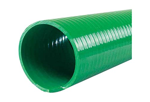 Jason Industrial 4601-1250 1-1/4'' ID PVC Water Suction Hose, 1.41'' OD, 100' Length, Green, 100 Psi