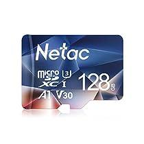 Netac Tarjeta de Memoria, Tarjeta Memoria microSDXC(A1, U3, C10, V30, 4K, 667X) UHS-I Velocidad de Lectura hasta 100 MB/s,