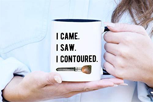 Makeup Coffee Mug Fashion Mug Contour Mug Gift for Her Cosmetologist Funny Mug Sassy Mug Makeup Lover Makeup Artist I Contoured for $<!--$10.99-->
