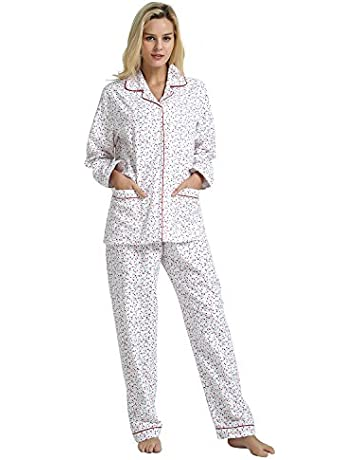 bac738790171c0 GLOBAL Comfy Pajamas for Women 2-Piece Warm and Cozy Flannel Pj Set of  Loungewear
