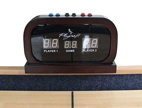 Playcraft Electronic Scorer for Home Recreation Shuffleboard Table - Espresso