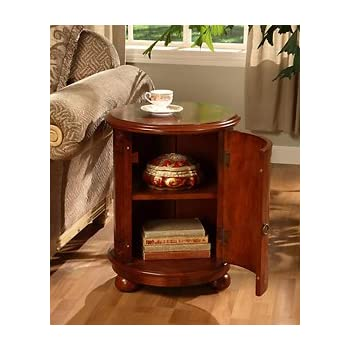 Amazon.com: Birch Drum Table. This Decorative Accent table Features a Storage Area with Two