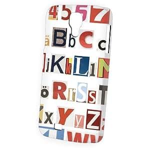 Case Fun Samsung Galaxy S4 (I9500) Case - Vogue Version - 3D Full Wrap - Alphabet