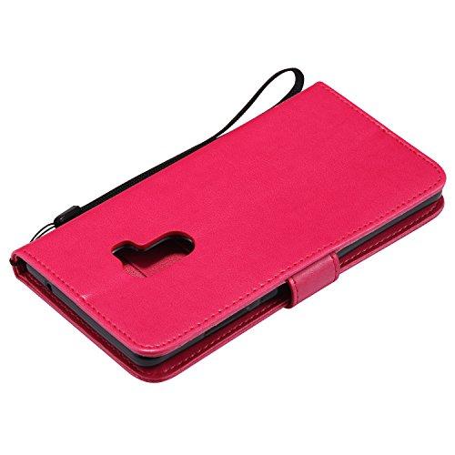 Funda XiaoMi Mi mix2, SsHhUu Funda PU Piel Genuino [Ranuras para Tarjetas] [Cierre Magnetico] con Lápiz óptico + Acollador para XiaoMi Mi mix2 / Mi Evo (5.99) Marrón Rose