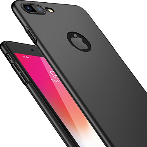 CASEKOO iPhone 7 Plus Case Ultra Thin Slim Fit Case Hard Sleek Protective Anti-Scratch Matte Surface Great Grip Cover Compatible with iPhone 7 Plus [Shell Series]-Phantom Black