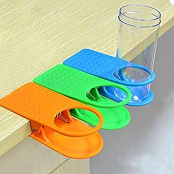 Cup Holder Mug Rack Cradle Stand Clip Desk Table Water Drink Coffee Home (Random Color)