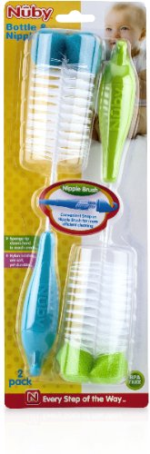 2-Pack Bottle Nipple Brush with Sponged Tip (Pack Of 72)
