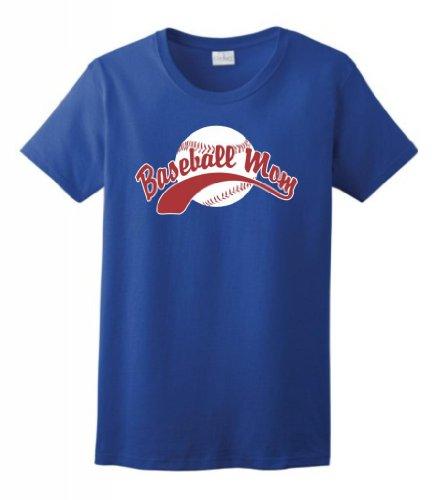 Baseball Mom Ladies T-Shirt XL - Socks Tornado Royal