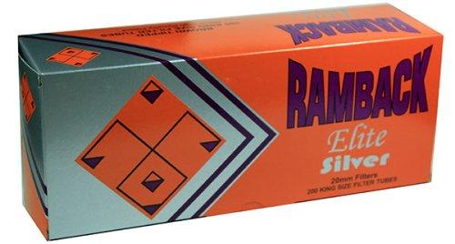 Ramback Elite Silver RYO Cigarette Tubes - King Size 200ct Box (50 Boxes) by Ramback