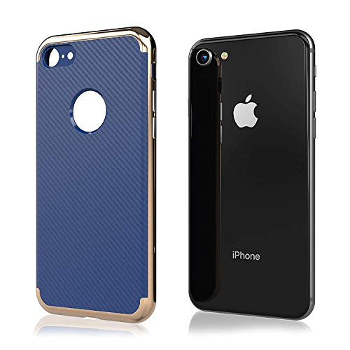 Price comparison product image [2019 Updated] iPhone 7 Case / iPhone 8 Case [New] Premium Luxury Slim Design Cell Phone Case [8 ft. Grade Drop Tested] iPhone 7 / iPhone 8 - (Blue)