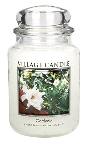 (Village Candle Gardenia 26 oz Glass Jar Scented Candle, Large)