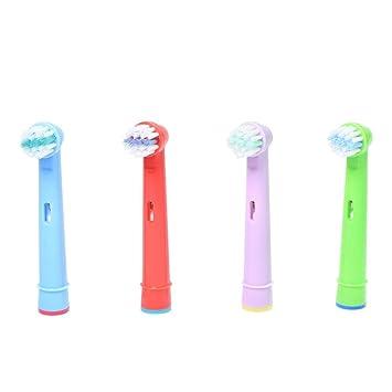 JUNERAIN - Cabezal de Cepillo de Dientes de Repuesto para Braun Oral B (4 Unidades): Amazon.es: Electrónica