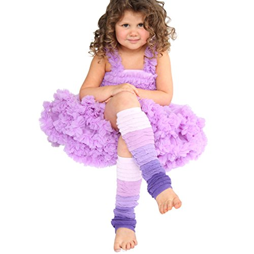 Huggalugs Girls Violet Ombre Legruffle Legwarmers (Regular (fits to 8 years), Violet)