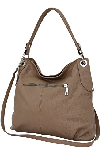 Moda Leather Ambra Handbag Shoulder Gl012 Sand Bag Shopper Genuine Women's BRBqAwpTv