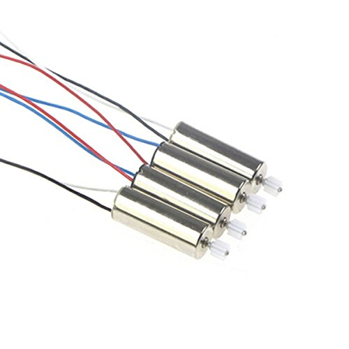 Coolplay 4pcs Anti-clockwise and Clockwise Motor with Plastic Gear Spare Parts only for Syma X5 X5C X5C-1 RC Quadcopter