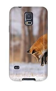 For Galaxy S5 Premium Tpu Case Cover Fox Protective Case