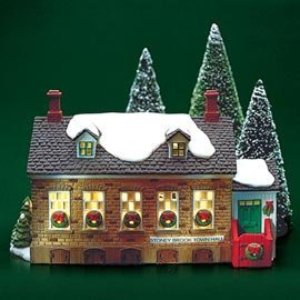 Dept 56 New England Village **Stoney Brook Town Hall** - England New Train