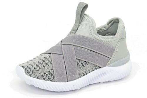 Blue Berry EASY21 Lightweight Toddle's Sneakers Kid's Cute Casual Sport Shoes Easy-36F,Grey,12