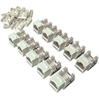 Shaxon BM803W810-10B, Category 6A Keystone Jack 10 Pack , RJ45 to 110 - White