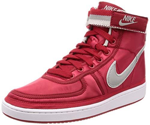 - Nike Men's Vandal High Supreme QS University Red/Metallic Silver Basketball Shoe 10.5 Men US