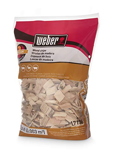 Cherry Wood Finishing - Weber Cubic Meter Stephen Products 17136 Pecan Wood Chips, 192 cu. in. (0.003 cubi, 2 lb