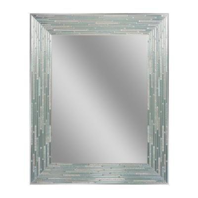 Beautiful Aqua/Blue /Mosaic Tile Design Wall-Mounted Mirrors ,30 in. L x 24 in. - Mirror Aqua