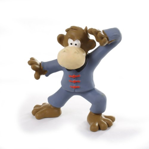 Knight Pet Latex Kung Fu Monkey Toy, My Pet Supplies