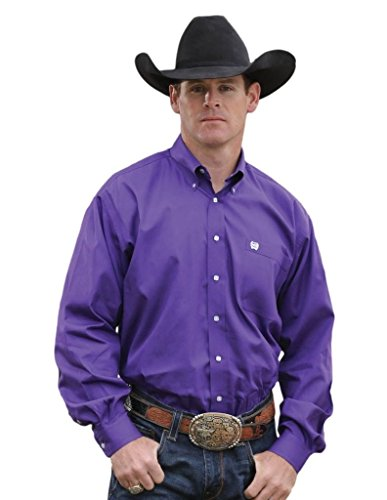 Cinch Men's Classic Fit Long Sleeve Button One Open Pocket Solid Shirt